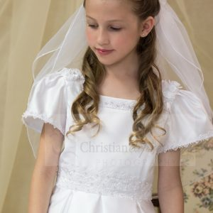 first communion wreath veils with flowers