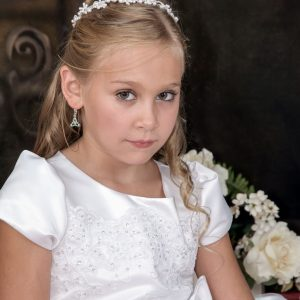 first holy communion pearl tiara headpiece