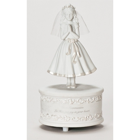 girls first communion music box