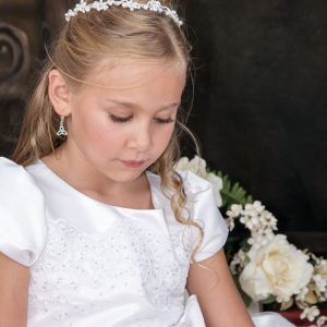 girls first holy communion tiara headpiece