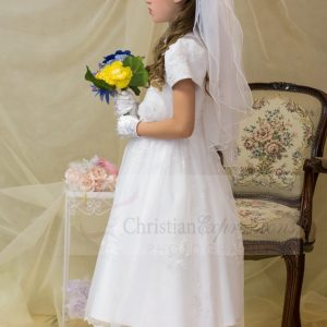 holy communion dresses peter pan collar