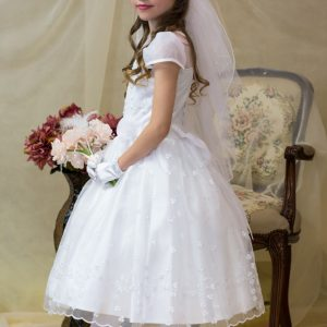 irish first holy communion dresses with sleeves
