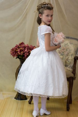 irish shamrock first communion dress tea length