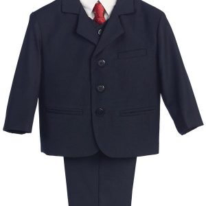 Boys First Communion Suit Navy Blue