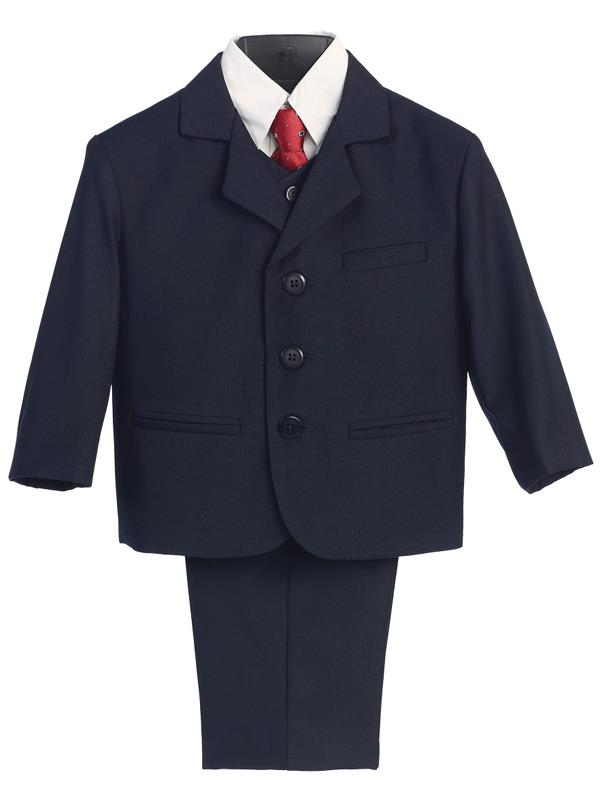 Boy's navy suits available in a wide range of styles.