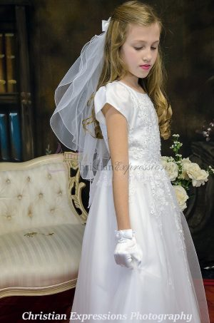 organza heavy beaded communion dresses with sleeves
