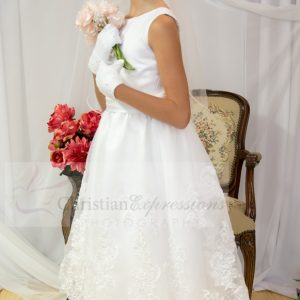 organza satin and lace 1st holy communion dresses