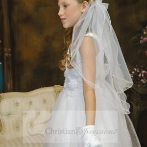 satin and tulle white first communion dresses size 7