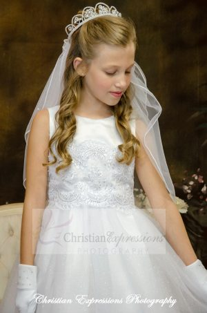 satin and tulle white first communion dresses size 8
