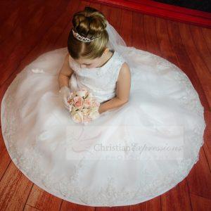 Organza Beaded First Communion Dress