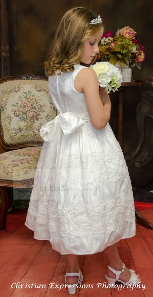 Silk First Communion Dress size 6