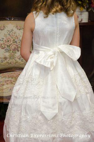 Silk First Communion Dress size 8