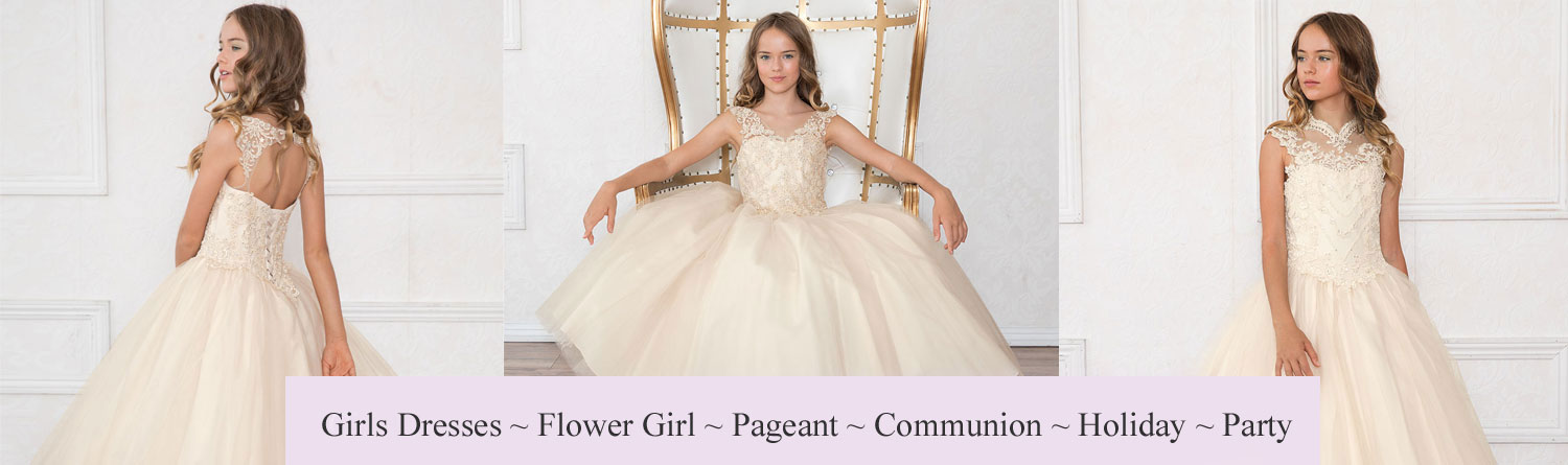 Girls Dresses- Flower Girl - Pageant - Party- Communion