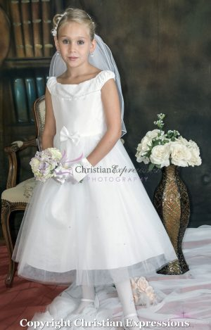 Ballerina First Holy Communion Dress Taffeta Bodice size 10