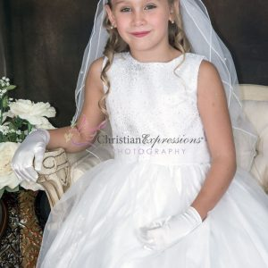 First Communion Dress with Sequined Bodice Size 6