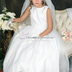 First Communion Dress with Sequined Bodice Size 8