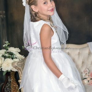 First Communion Dresses with Sequined Bodice Size 10