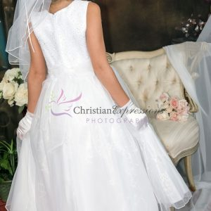First Communion Dresses with Sequined Bodice Size 12