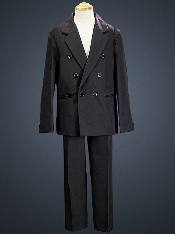 Boys Two Piece Black Double Breasted First Communion Suit