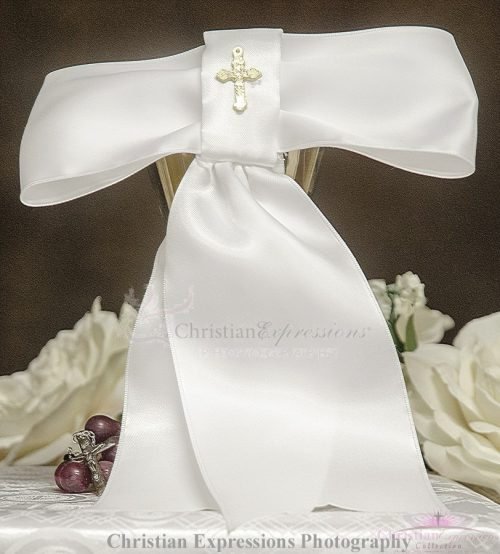 Boys First Communion Armband with Gold Cross