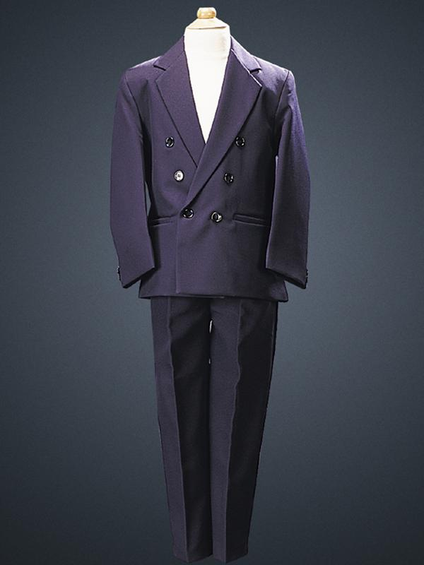 Boys Two Piece Navy Blue Double Breasted First Communion Suit