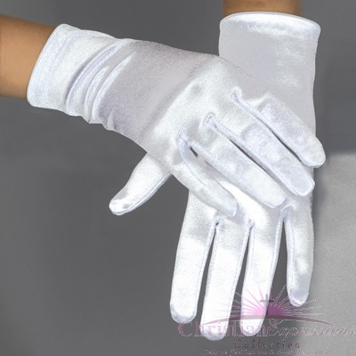 Plain Satin First Communion Gloves