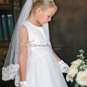White Lace First Communion Veil