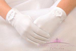 irish claddagh first communion gloves