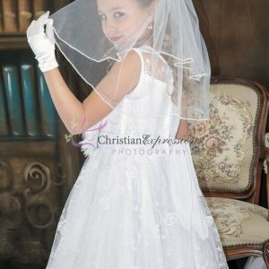 Couture Designer Lace First Communion Dress Size 10