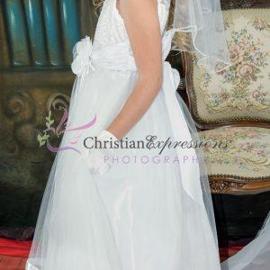Designer Embroidered First Communion Dress Size 10