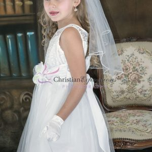 Designer Embroidered First Communion Dress Size 12