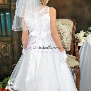 Designer Embroidered First Communion Dress Size 14