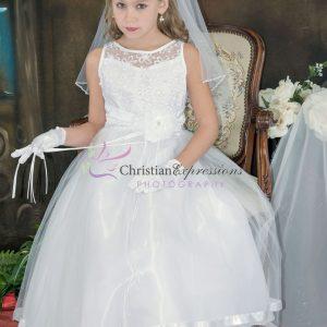 Designer Embroidered First Communion Dress Size 16