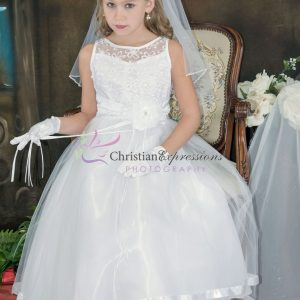 Designer Embroidered First Communion Dress Size 16