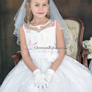 Designer Lace First Communion Dress Size 6