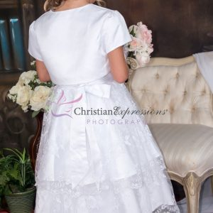 Double-Layer-Embroidered-Skirt-First-Communion-Dress-with-Jacket-Size-10