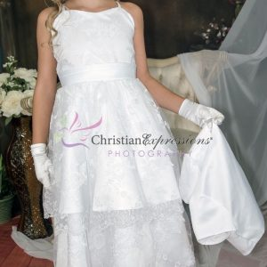 Double-Layer-Embroidered-Skirt-First-Communion-Dress-with-Jacket-Size-6