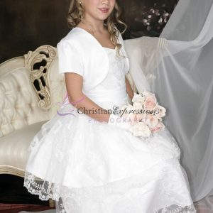 Double-Layer-Embroidered-Skirt-First-Communion-Dress-with-Jacket-Size-7