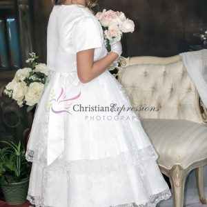 Double-Layer-Embroidered-Skirt-First-Communion-Dress-with-Jacket-Size-8