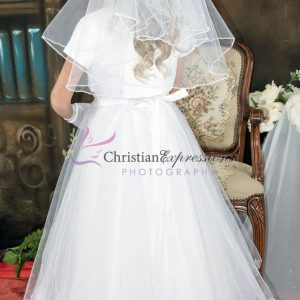 Halter Bodice Pearls First Communion Dress size 10
