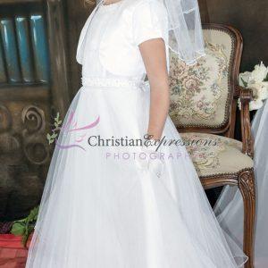 Halter Bodice Pearls First Communion Dress size 7