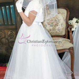 Halter Bodice Pearls First Communion Dress size 8
