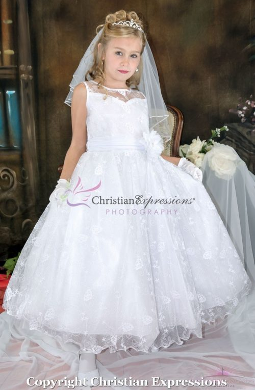 Lace First Communion Dress Size 6