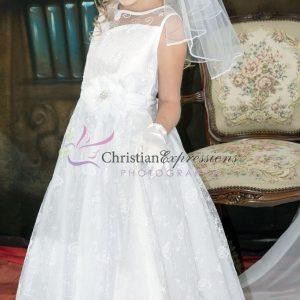Lace First Communion Dress Size 7