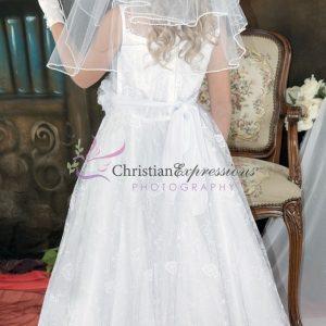 Lace First Communion Dress Size 8
