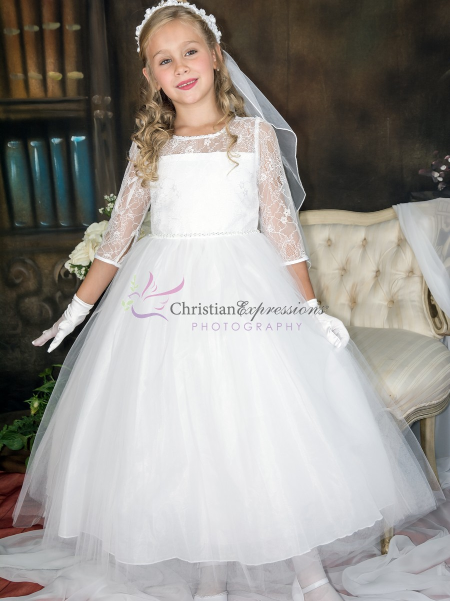 Long Length First Communion Dresses Firstcommunions