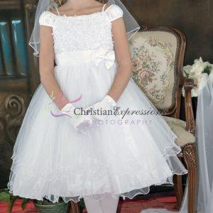 Tea Lengh Ballerina First Communion Dress for Girls
