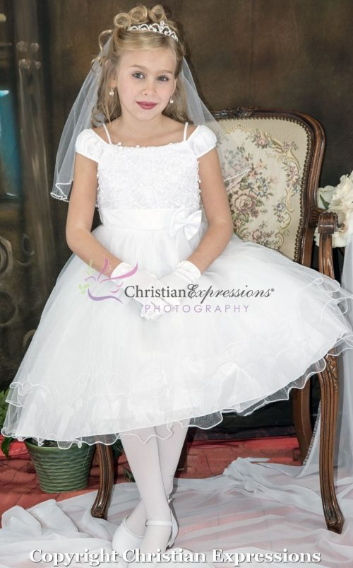 Tea Length Ballerina First Communion Dress Size 6