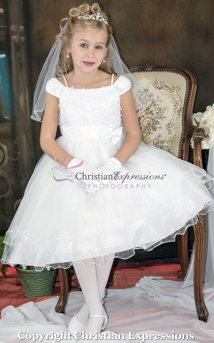 Tea Length Ballerina First Communion Dress Size 6