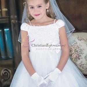 Tea Length Ballerina First Communion Dress Size 7